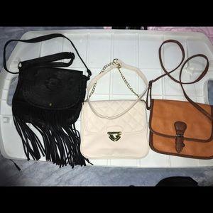 3 Crossbody bags